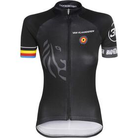 Bioracer Van Vlaanderen Pro Race Kortärmad cykeltröja Dam svart